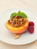 Peach dessert Royalty Free Stock Photography
