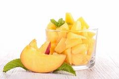 Peach dessert Royalty Free Stock Photography