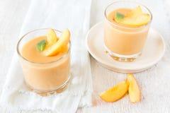 Peach dessert stock image