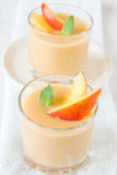 Peach dessert Stock Photography