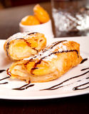 Peach dessert roll Royalty Free Stock Images