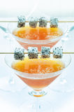 Peach and Dragonfruit ice blended Royalty Free Stock Images