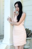 Peach dress Stock Images