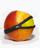 Peach dressed apple Royalty Free Stock Image