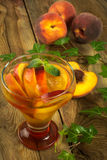 Peach drink Royalty Free Stock Photo