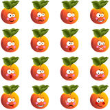 Peach with feature a different expression Royalty Free Stock Image