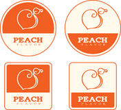 Peach Flavor Food Labels Stock Image