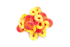 Peach flavored gummy candy Royalty Free Stock Photo