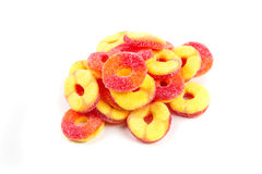 Peach flavored gummy candy Royalty Free Stock Images