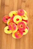 Peach flavored gummy candy Royalty Free Stock Image