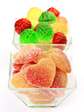 Peach flavored gummy hearts Stock Image