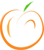 Peach fruit. Abstract food illustration royalty free illustration