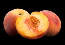 Peach fruit on black Stock Photography