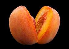 Peach fruit on black Stock Image