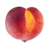 Peach fruit in heart shape Stock Photography