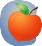 Peach fruit illustration Stock Images
