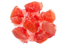Peach fruit jelly Stock Photo