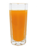 Peach fruit juice in glass isolated Stock Photography