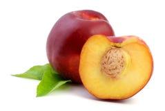 Peach fruit stock image