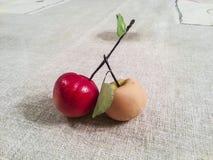 Peach - Fruit Martorana. Traditional marzipan sweets Royalty Free Stock Photography