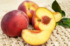 Peach, Fruit, Red, Ripe, Delicious Royalty Free Stock Photography