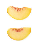 Peach fruit's slice isolated Royalty Free Stock Photography