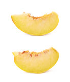 Peach fruit's slice isolated Royalty Free Stock Photo