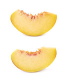 Peach fruit's slice isolated Royalty Free Stock Image