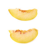 Peach fruit's slice isolated Royalty Free Stock Images