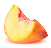 Peach fruit sliced isolated on white background royalty free stock photo