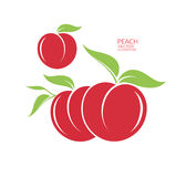 Peach.  fruit on white background Stock Photography