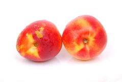 Peach fruits royalty free stock photos
