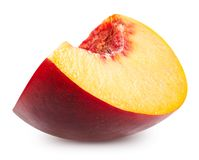 Peach fruits isolated royalty free stock photography