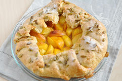 Peach galette Stock Images