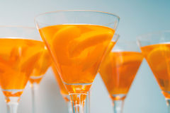 Peach gelatin Royalty Free Stock Photos