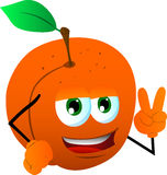 Peach gesturing the peace sign Royalty Free Stock Images