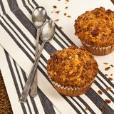Peach Granola Muffins Royalty Free Stock Image