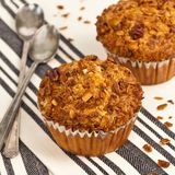 Peach Granola Muffins Stock Photography