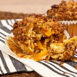 Peach Granola Muffins Royalty Free Stock Images