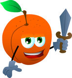 Peach guard with sword Stock Photography