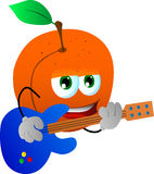 Peach guitar player Stock Image