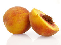 Peach and a half Stock Photos