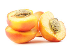 Peach with half Royalty Free Stock Photo