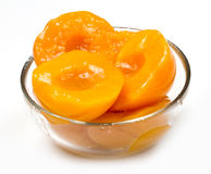 Peach halves Royalty Free Stock Photography