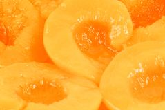 Peach halves Royalty Free Stock Image