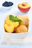 Peach ice cream Royalty Free Stock Images