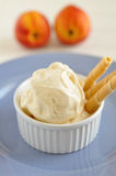 Peach ice cream Stock Photos