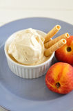 Peach ice cream. Home made peach ice cream Stock Photo