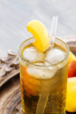 Peach ice tea Royalty Free Stock Photos