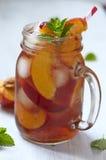 Peach ice tea Royalty Free Stock Photography